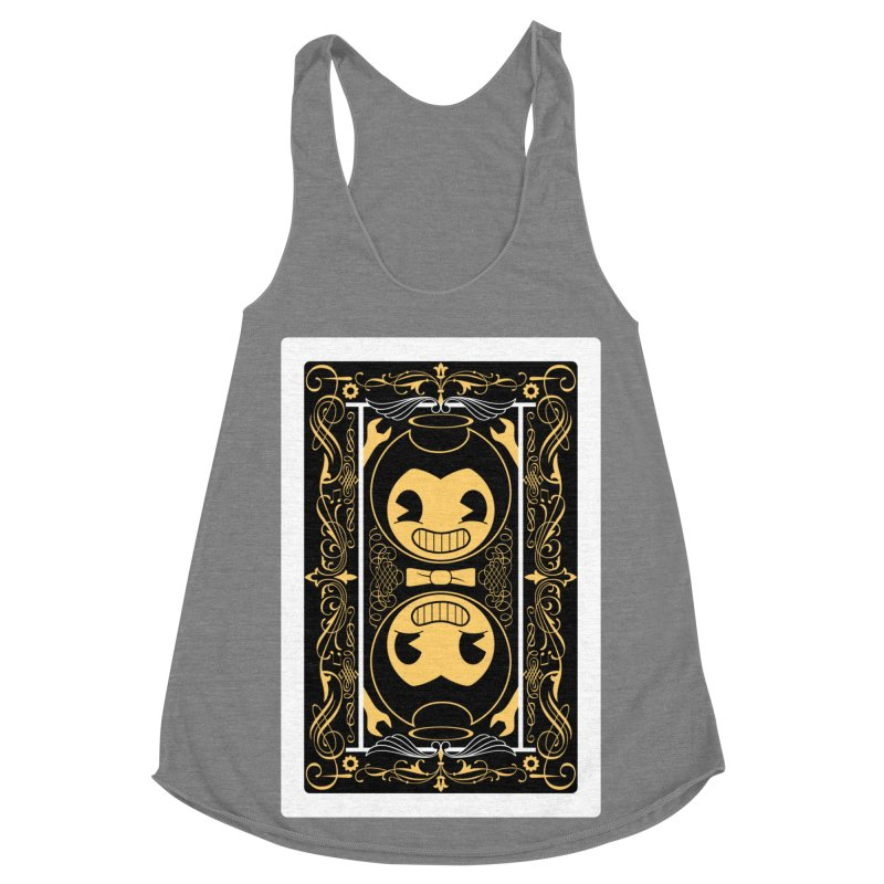 Bendy and the Ink Machine Playing Card Women's Racerback Triblend Tank by WatchPony Clothing Collection