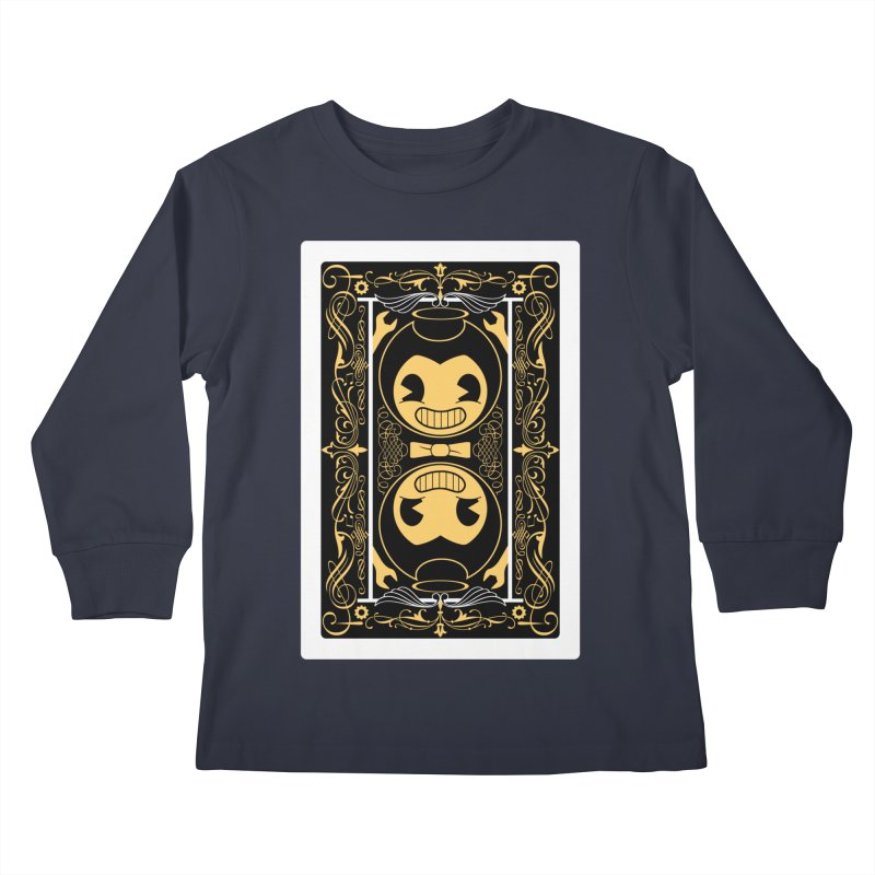 Bendy and the Ink Machine Playing Card Kids Longsleeve T-Shirt by WatchPony Clothing Collection