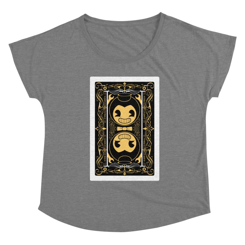 Bendy and the Ink Machine Playing Card Women's Scoop Neck by WatchPony Clothing Collection