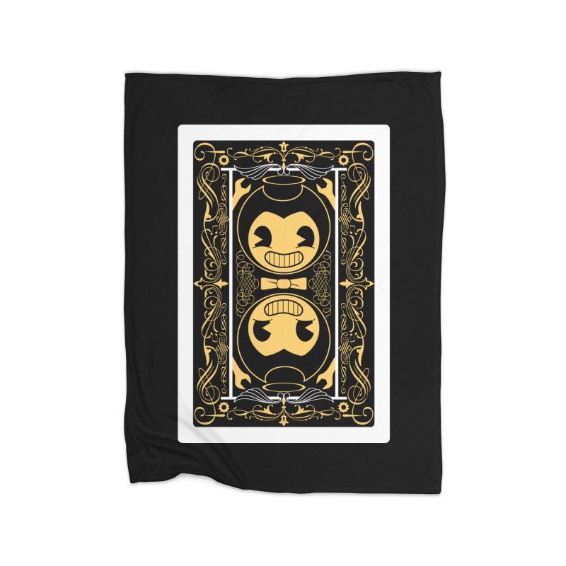 Bendy and the Ink Machine Playing Card Home Fleece Blanket Blanket by WatchPony Clothing Collection