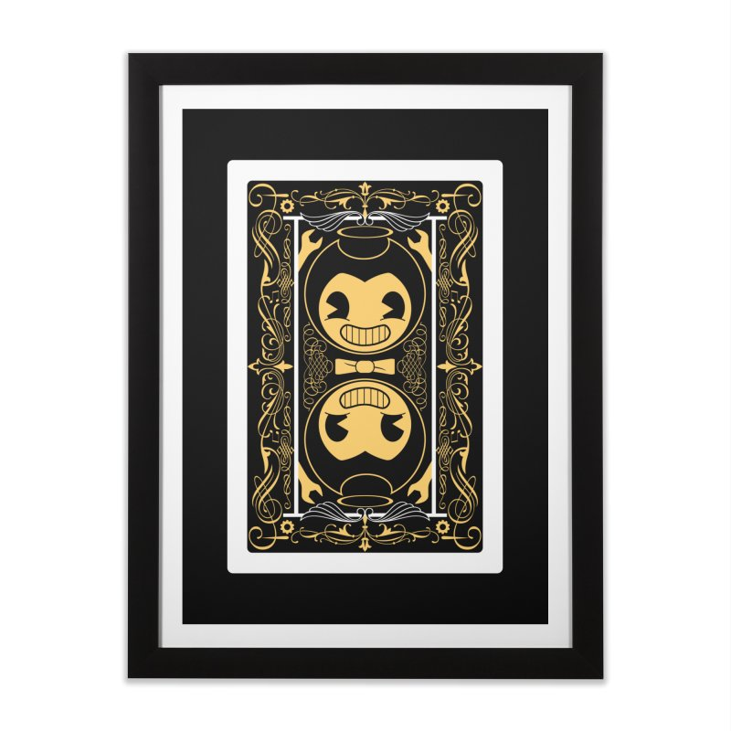 Bendy and the Ink Machine Playing Card Home Framed Fine Art Print by WatchPony Clothing Collection
