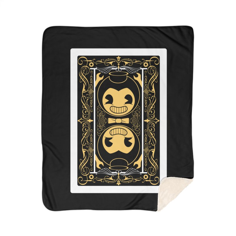 Bendy and the Ink Machine Playing Card Home Blanket by WatchPony Clothing Collection