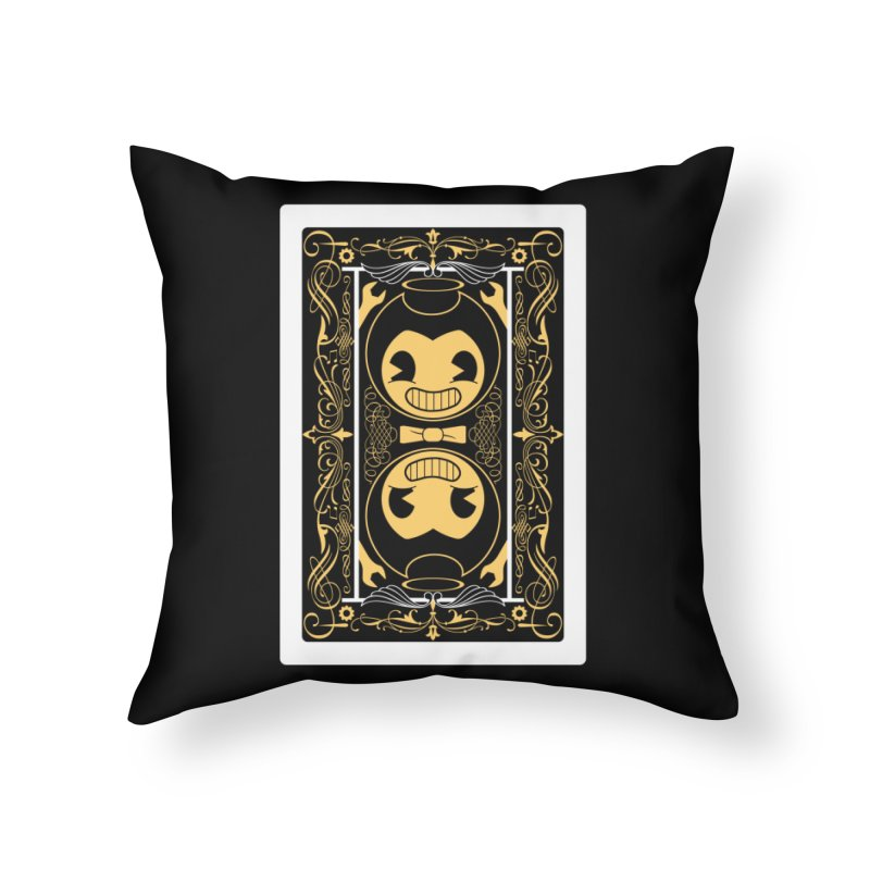 Bendy and the Ink Machine Playing Card Home Throw Pillow by WatchPony Clothing Collection