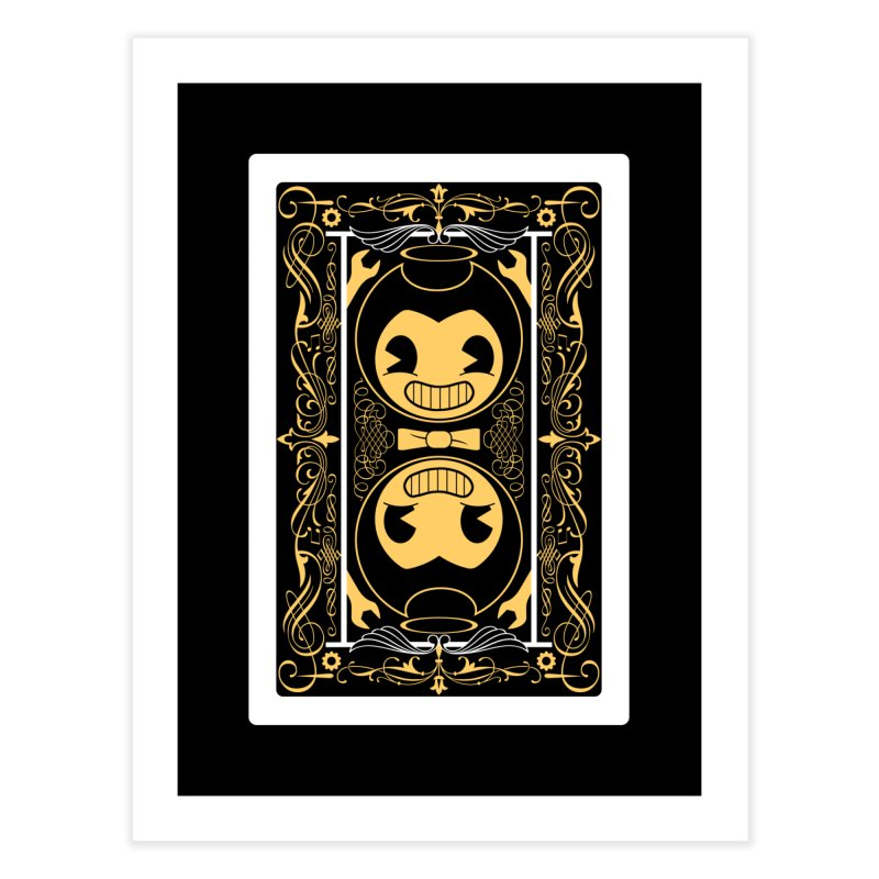 Bendy and the Ink Machine Playing Card Home Fine Art Print by WatchPony Clothing Collection