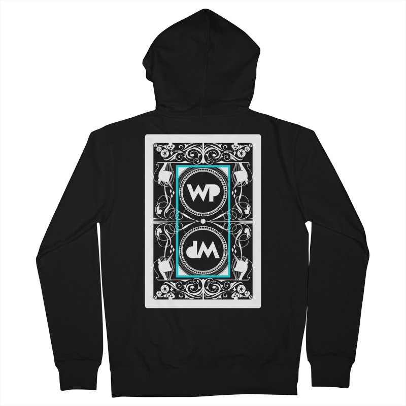 WatchPony Playing Cards Women's French Terry Zip-Up Hoody by WatchPony Clothing Collection