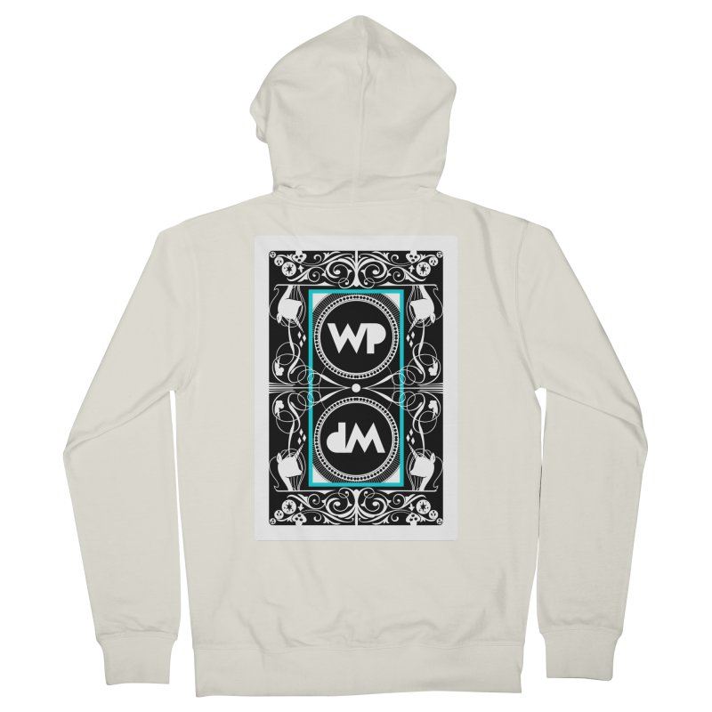 WatchPony Playing Cards Men's French Terry Zip-Up Hoody by WatchPony Clothing Collection