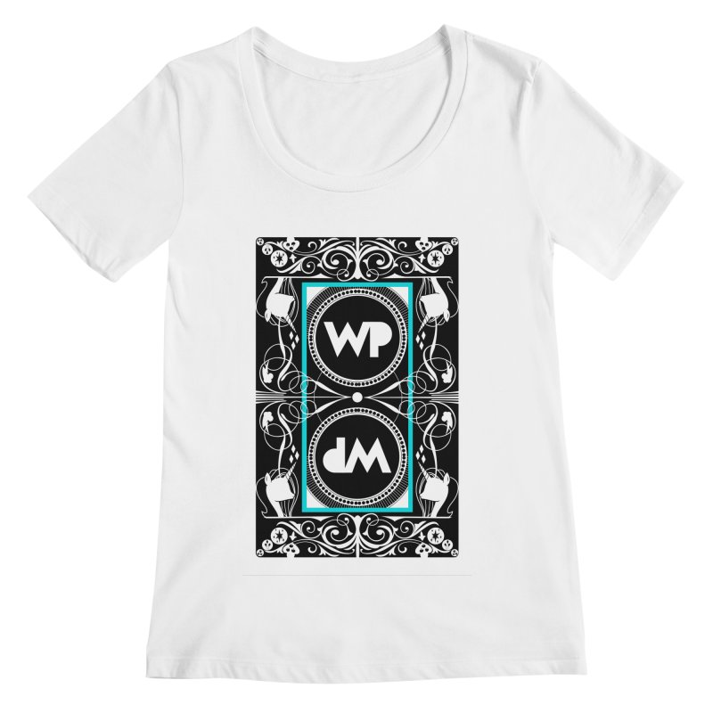 WatchPony Playing Cards Women's Regular Scoop Neck by WatchPony Clothing Collection