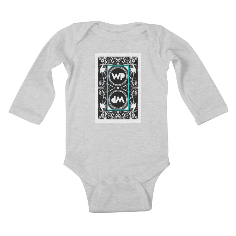 WatchPony Playing Cards Kids Baby Longsleeve Bodysuit by WatchPony Clothing Collection