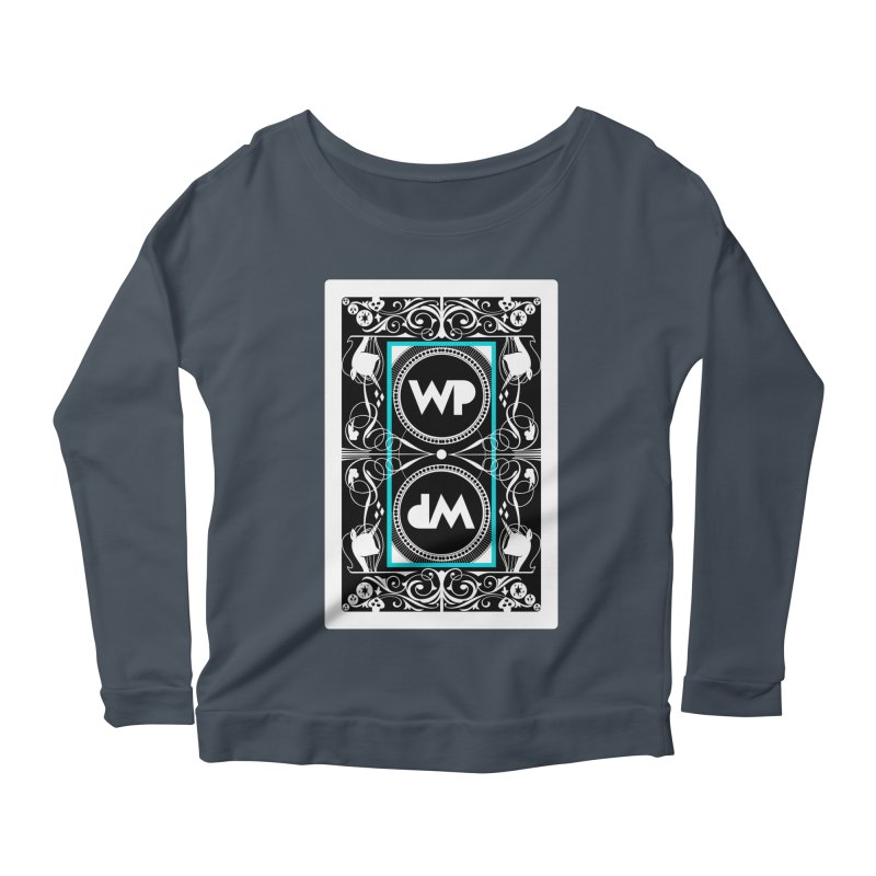 WatchPony Playing Cards Women's Scoop Neck Longsleeve T-Shirt by WatchPony Clothing Collection