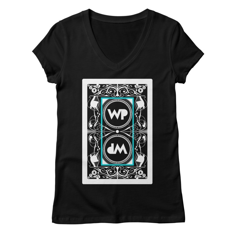 WatchPony Playing Cards Women's V-Neck by WatchPony Clothing Collection