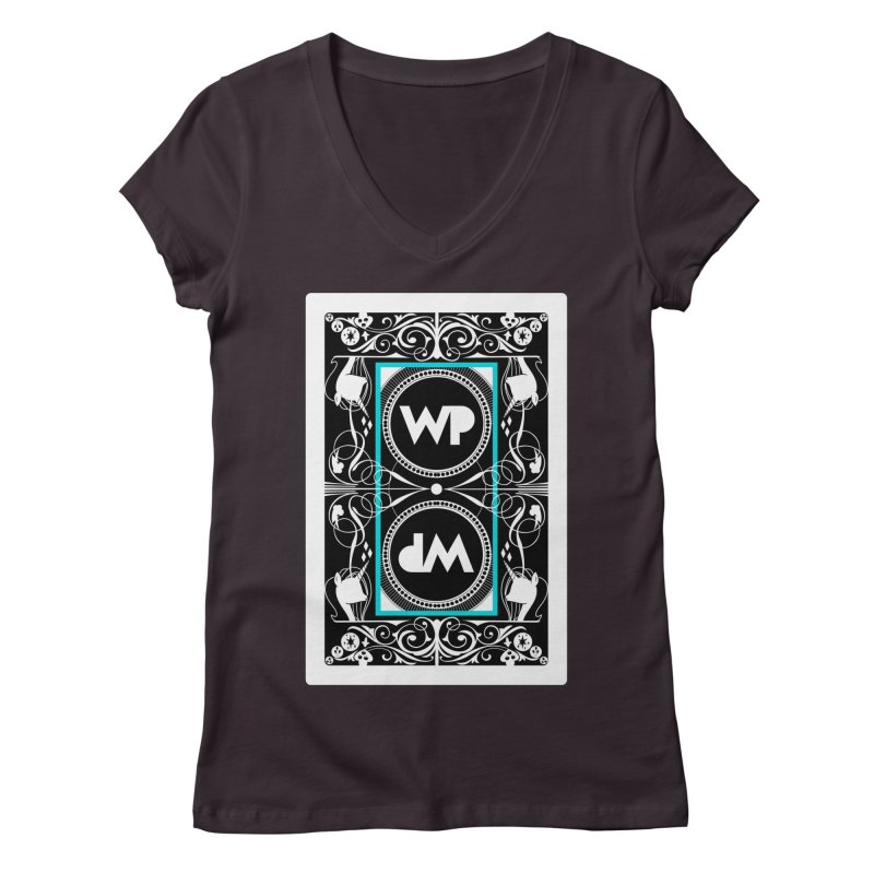 WatchPony Playing Cards Women's Regular V-Neck by WatchPony Clothing Collection