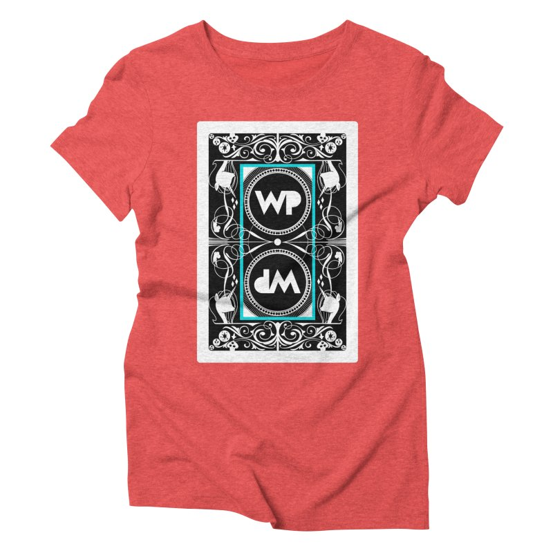 WatchPony Playing Cards Women's Triblend T-Shirt by WatchPony Clothing Collection