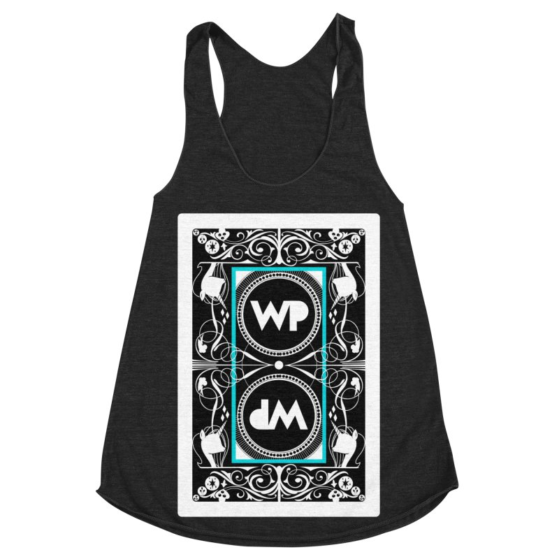 WatchPony Playing Cards Women's Racerback Triblend Tank by WatchPony Clothing Collection