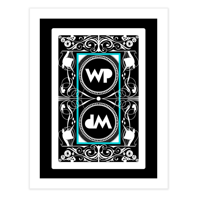 WatchPony Playing Cards Home Fine Art Print by WatchPony Clothing Collection
