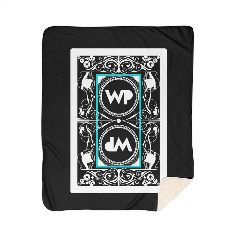 WatchPony Playing Cards Home Sherpa Blanket Blanket by WatchPony Clothing Collection