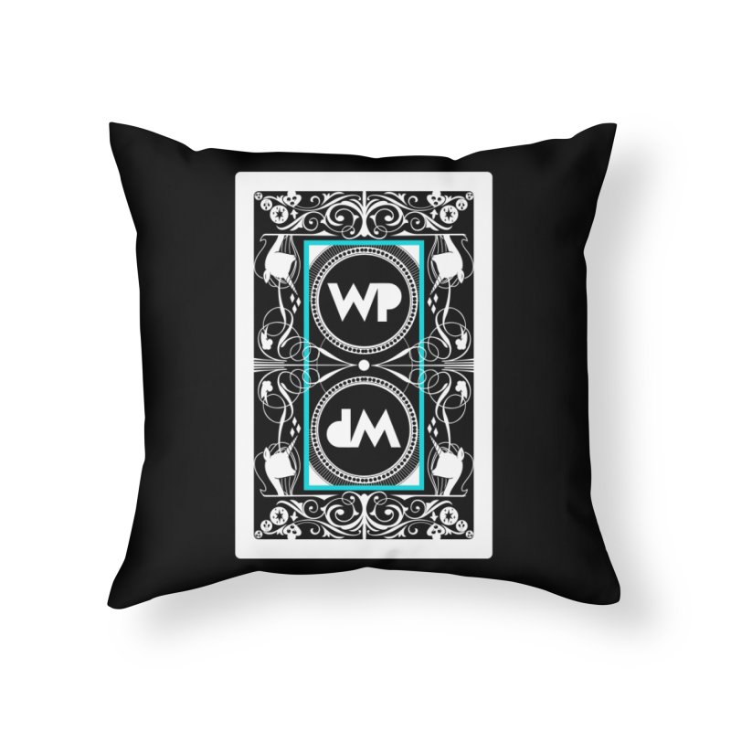 WatchPony Playing Cards Home Throw Pillow by WatchPony Clothing Collection