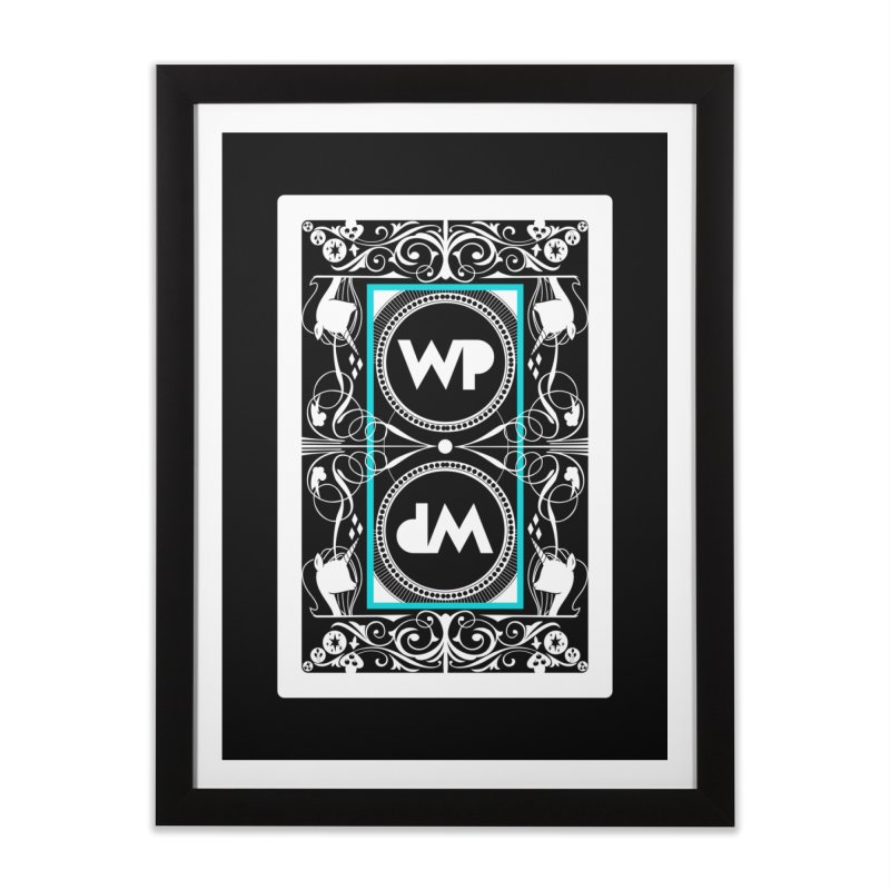 WatchPony Playing Cards Home Framed Fine Art Print by WatchPony Clothing Collection