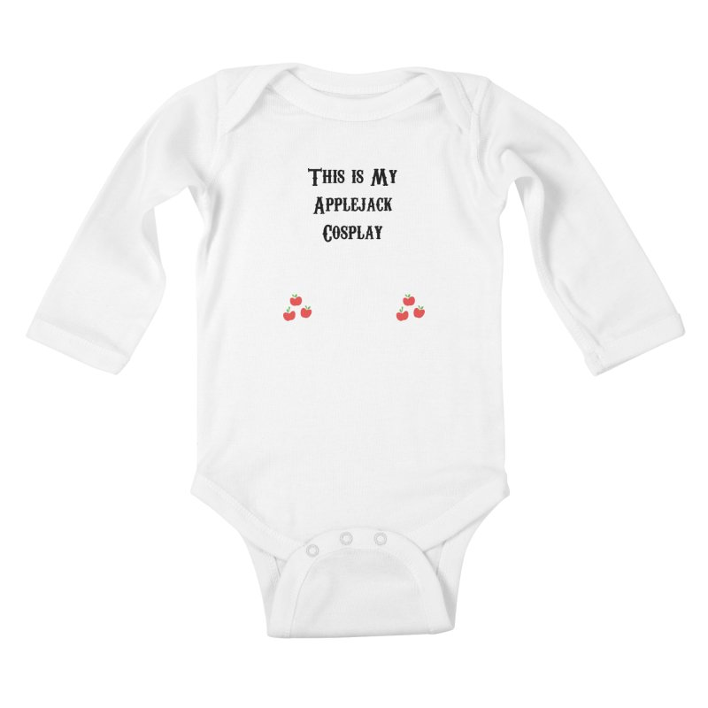Applejack Cosplay Kids Baby Longsleeve Bodysuit by WatchPony Clothing Collection