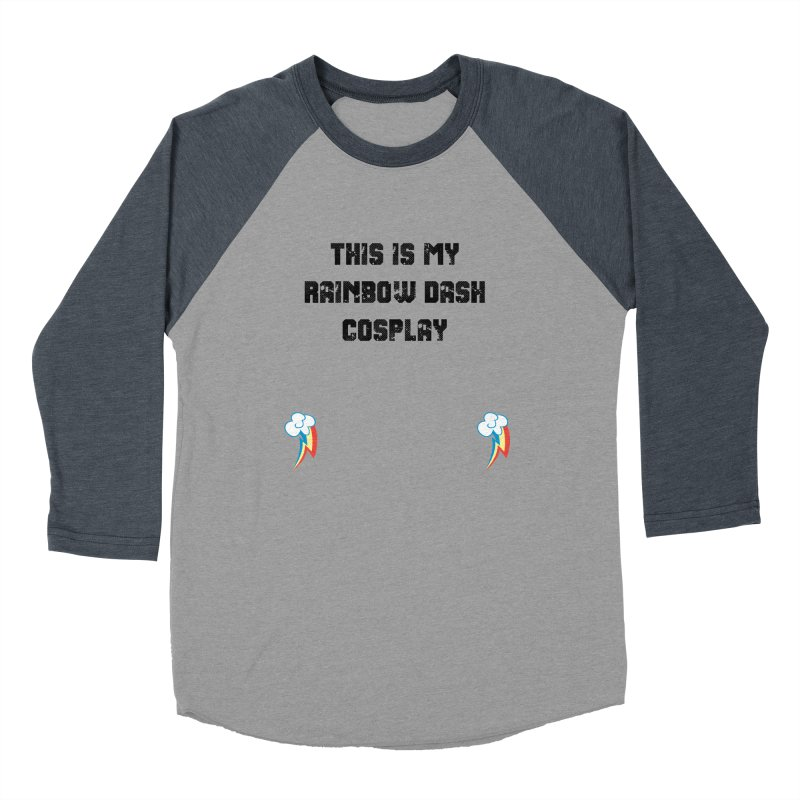Rainbow Dash Cosplay Men's Baseball Triblend Longsleeve T-Shirt by WatchPony Clothing Collection