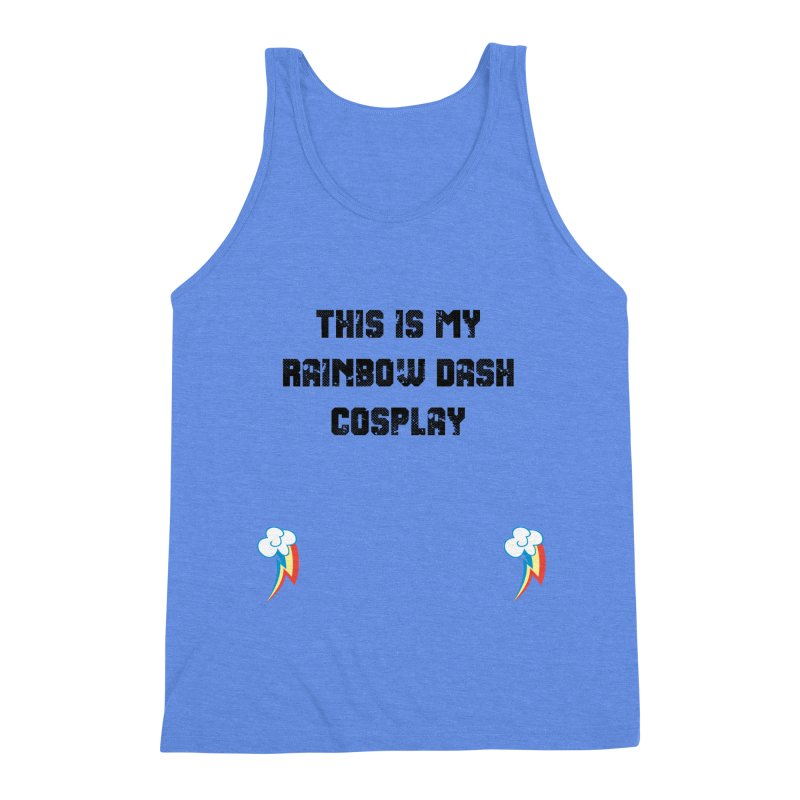 Rainbow Dash Cosplay Men's Triblend Tank by WatchPony Clothing Collection