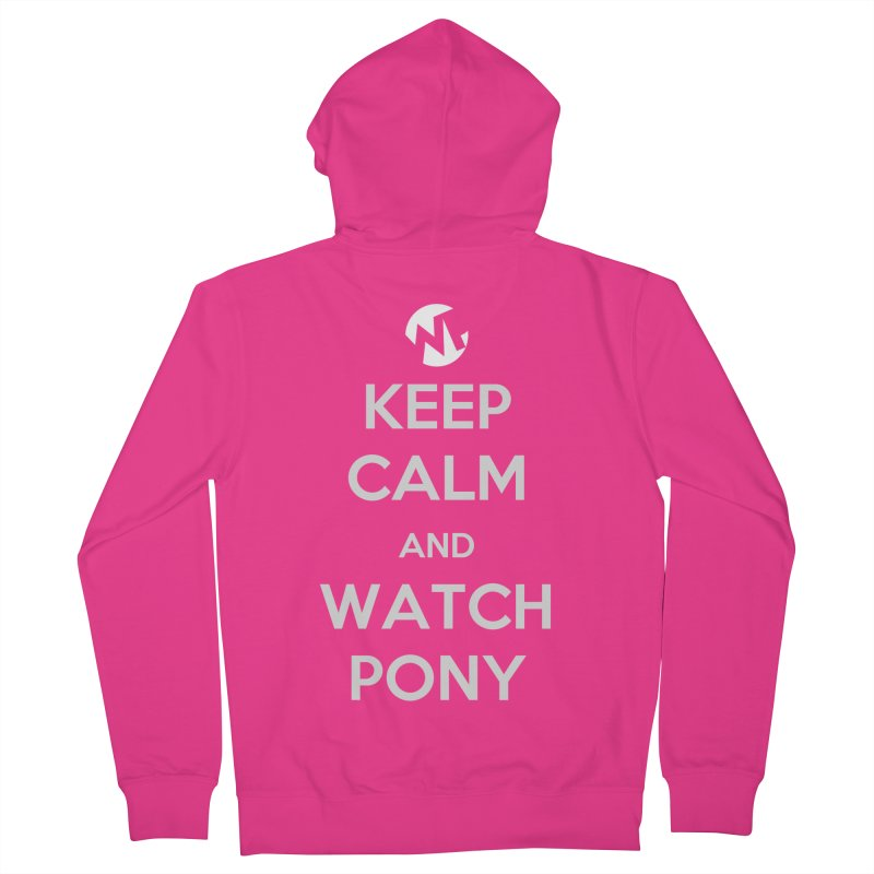 Keep Calm and WatchPony Men's French Terry Zip-Up Hoody by WatchPony Clothing Collection