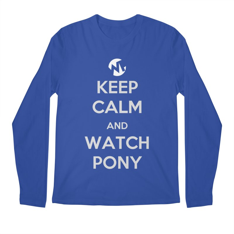 Keep Calm and WatchPony Men's Regular Longsleeve T-Shirt by WatchPony Clothing Collection
