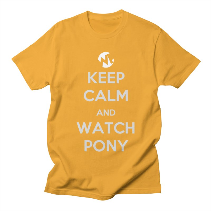 Keep Calm and WatchPony Men's Regular T-Shirt by WatchPony Clothing Collection