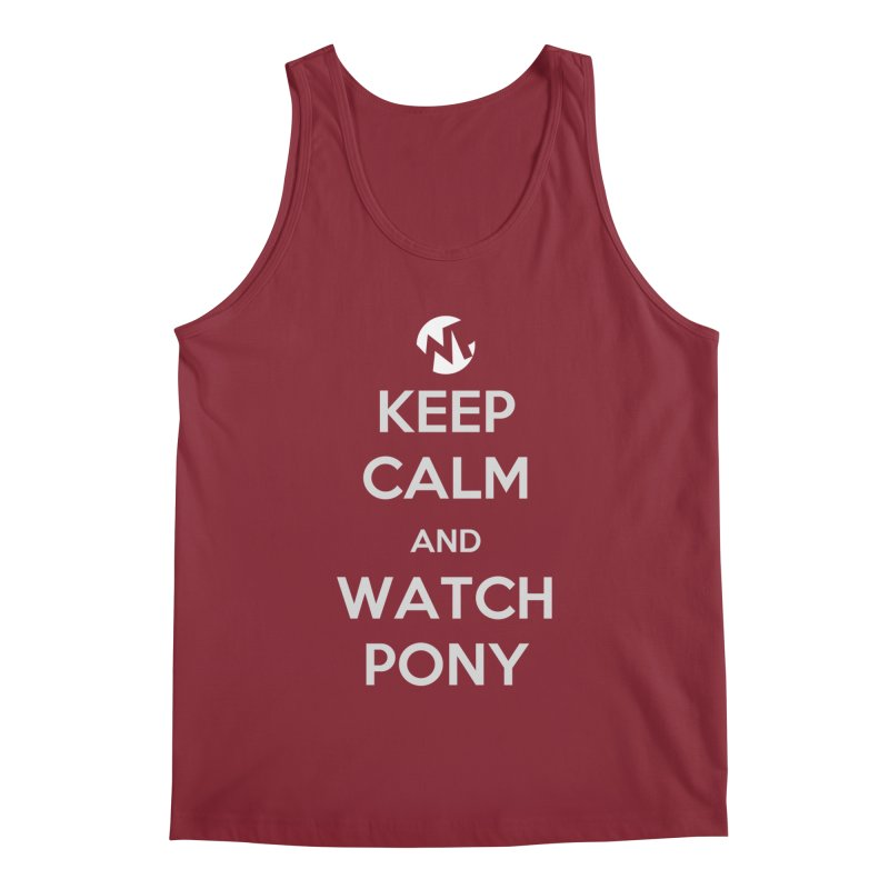 Keep Calm and WatchPony Men's Regular Tank by WatchPony Clothing Collection