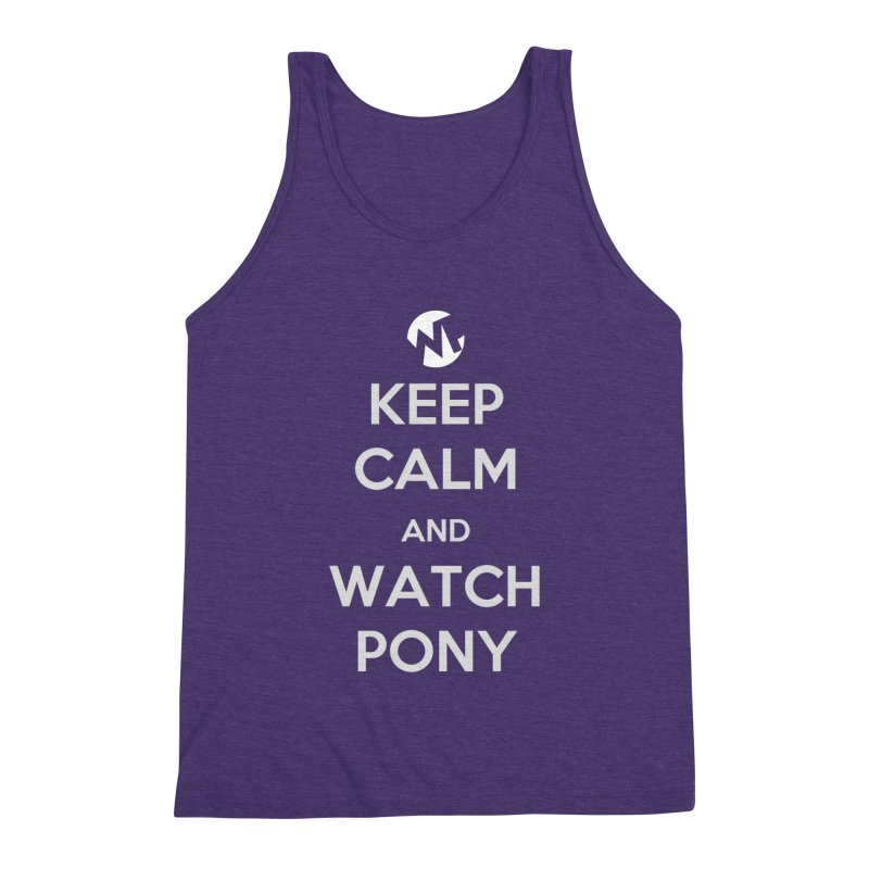 Keep Calm and WatchPony Men's Triblend Tank by WatchPony Clothing Collection
