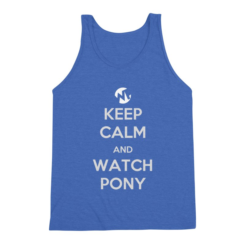 Keep Calm and WatchPony Men's Tank by WatchPony Clothing Collection