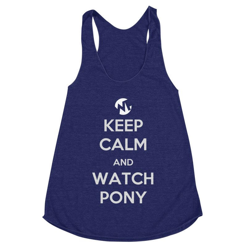 Keep Calm and WatchPony Women's Racerback Triblend Tank by WatchPony Clothing Collection
