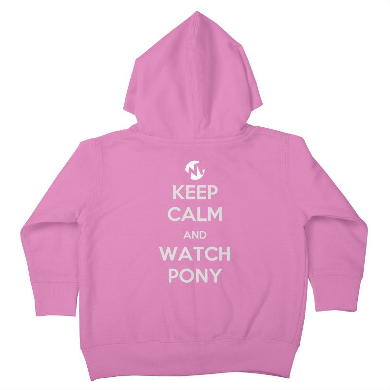 Keep Calm and WatchPony Kids Toddler Zip-Up Hoody by WatchPony Clothing Collection