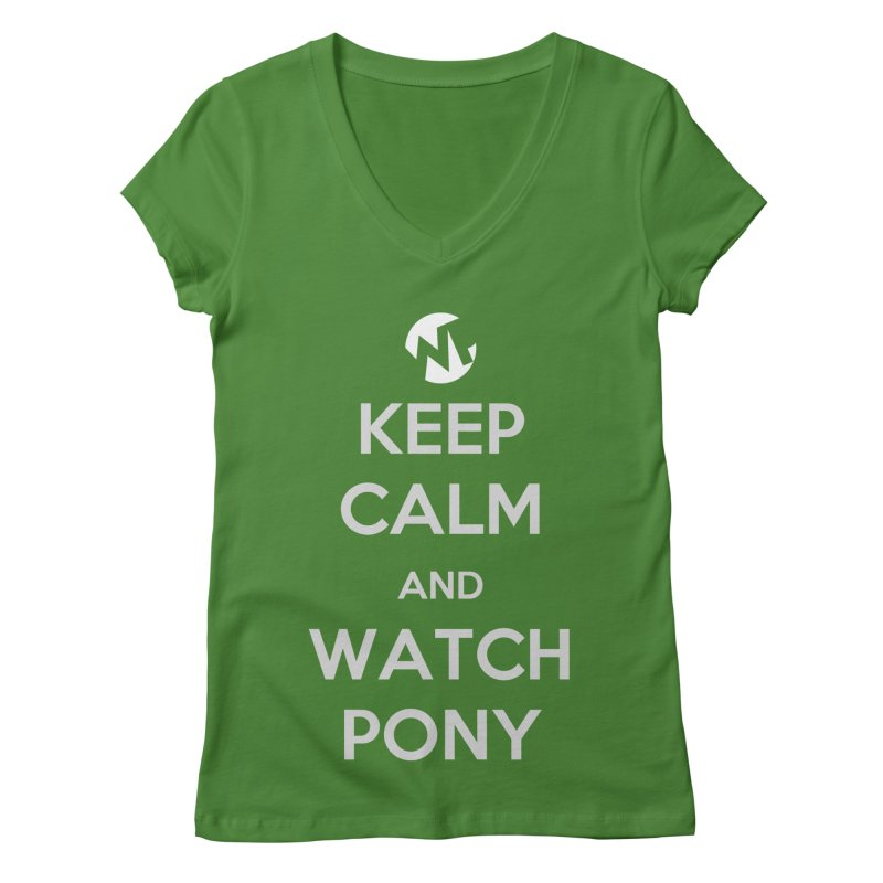 Keep Calm and WatchPony Women's Regular V-Neck by WatchPony Clothing Collection