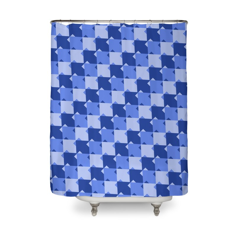 BLU Home Shower Curtain by WatchPony Clothing Collection