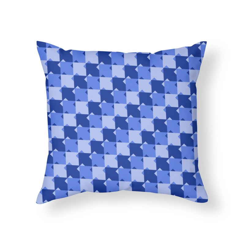 BLU Home Throw Pillow by WatchPony Clothing Collection