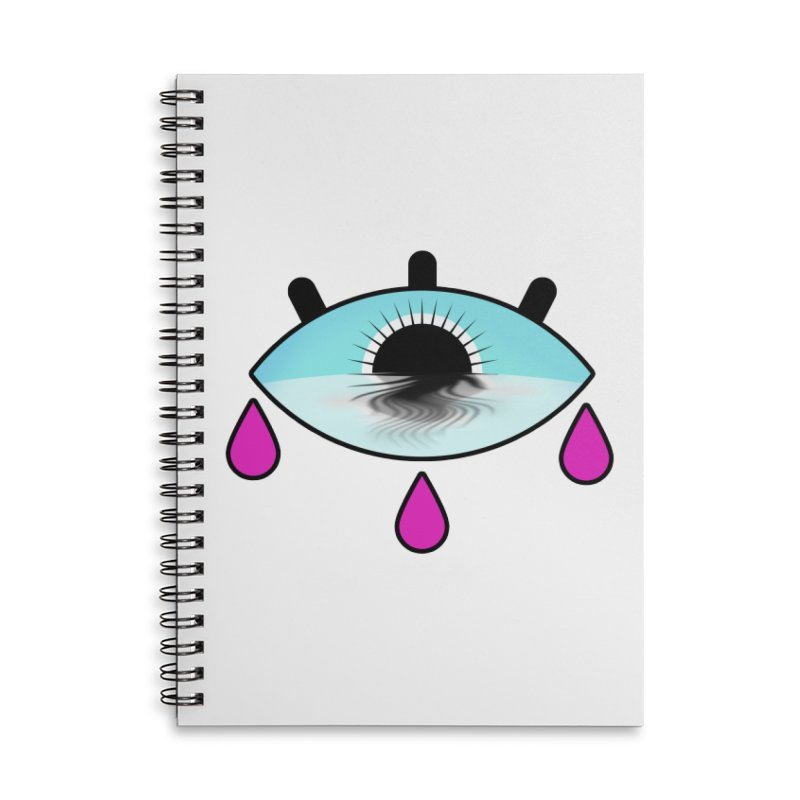 Third Eye Accessories Lined Spiral Notebook by WatchPony Clothing Collection