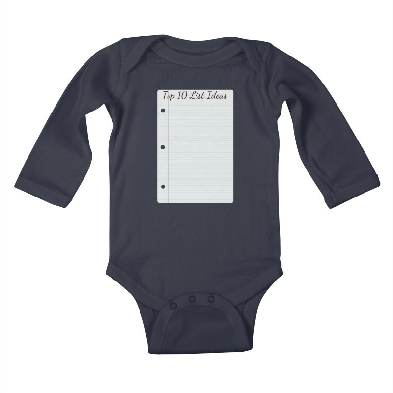 Brain Stormin' Kids Baby Longsleeve Bodysuit by WatchPony Clothing Collection