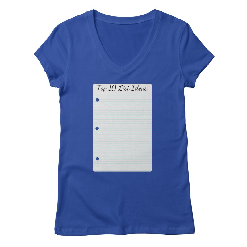 Brain Stormin' Women's V-Neck by WatchPony Clothing Collection