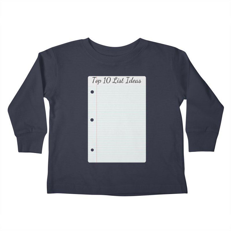 Brain Stormin' Kids Toddler Longsleeve T-Shirt by WatchPony Clothing Collection