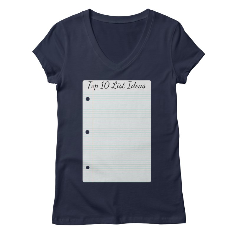 Brain Stormin' Women's Regular V-Neck by WatchPony Clothing Collection