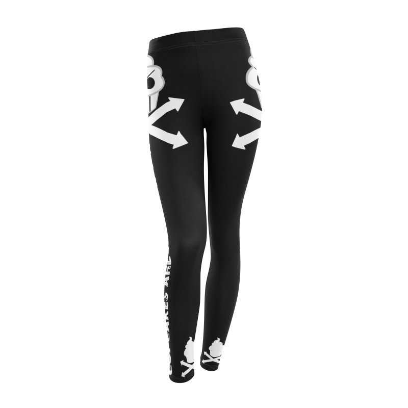 The Swirly Roger Women's Leggings Bottoms by WatchPony Clothing Collection