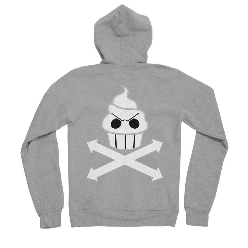 The Swirly Roger Men's Sponge Fleece Zip-Up Hoody by WatchPony Clothing Collection
