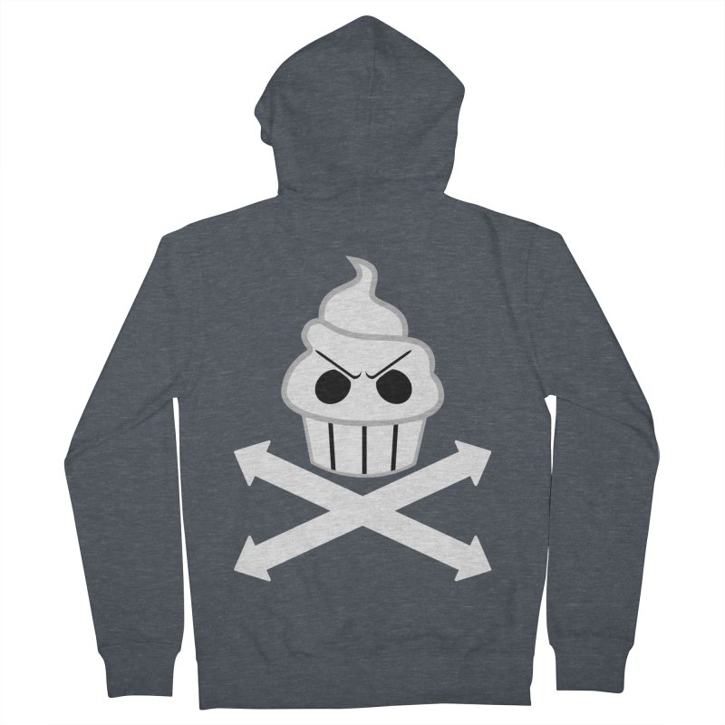 The Swirly Roger Men's Zip-Up Hoody by WatchPony Clothing Collection