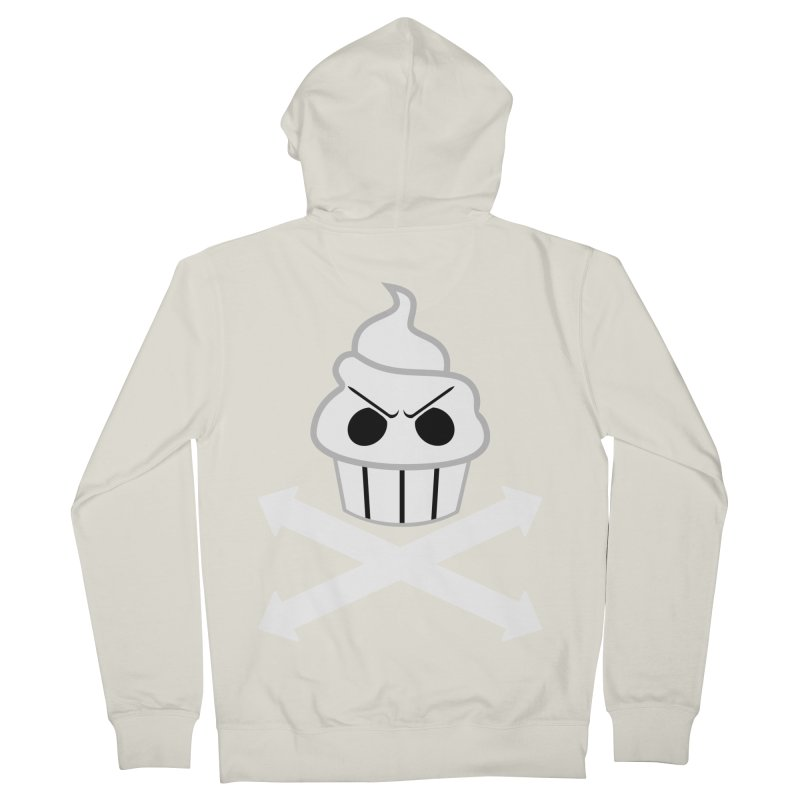 The Swirly Roger Men's French Terry Zip-Up Hoody by WatchPony Clothing Collection