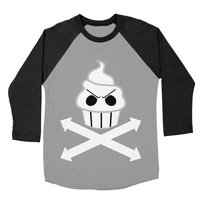 The Swirly Roger Men's Baseball Triblend Longsleeve T-Shirt by WatchPony Clothing Collection