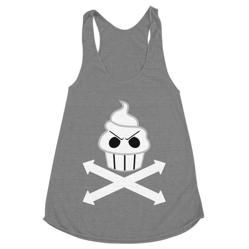The Swirly Roger Women's Racerback Triblend Tank by WatchPony Clothing Collection