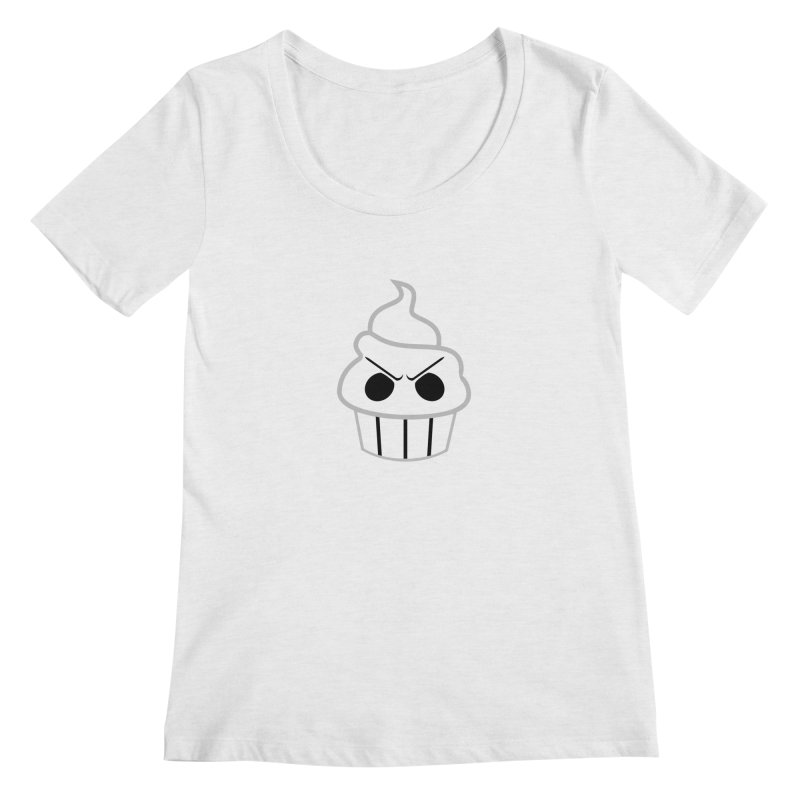 The Swirly Roger Women's Regular Scoop Neck by WatchPony Clothing Collection