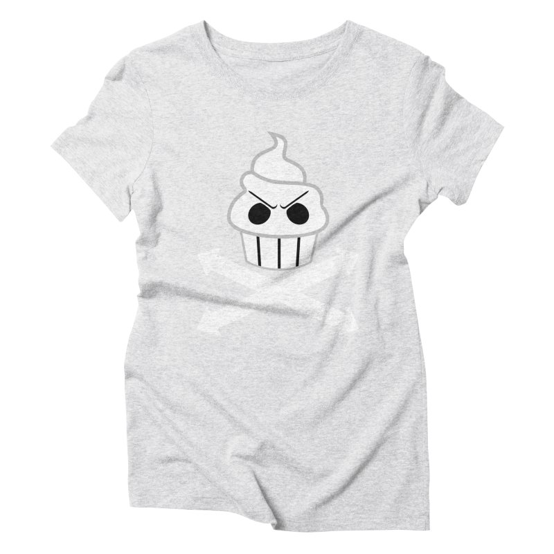 The Swirly Roger Women's Triblend T-Shirt by WatchPony Clothing Collection