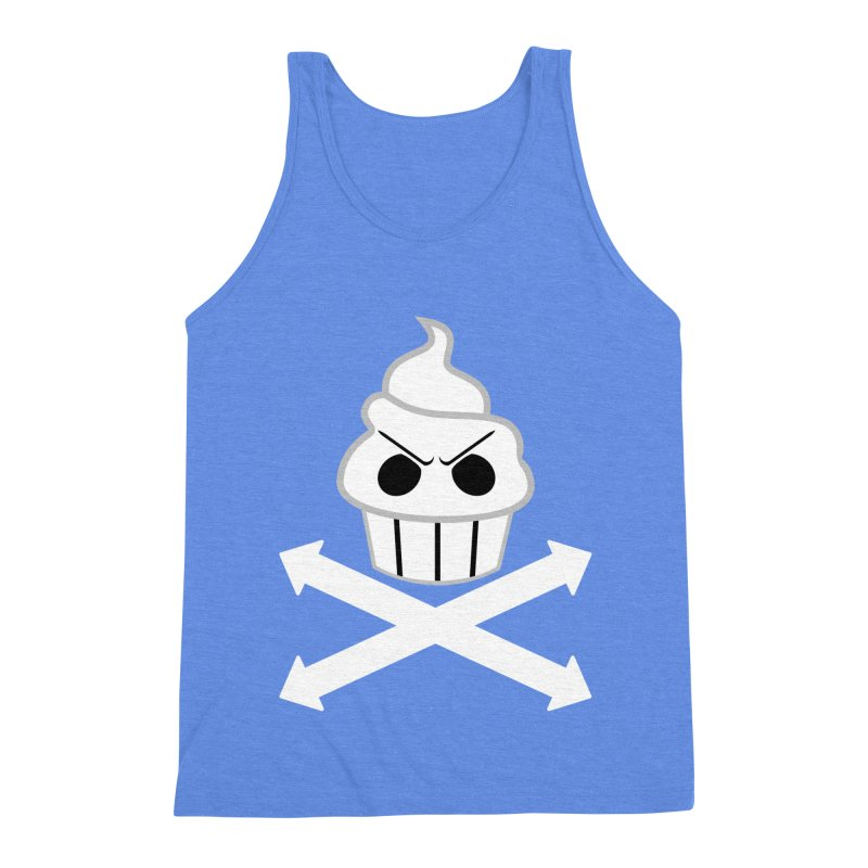 The Swirly Roger Men's Triblend Tank by WatchPony Clothing Collection