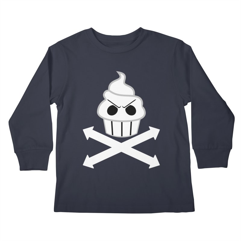 The Swirly Roger Kids Longsleeve T-Shirt by WatchPony Clothing Collection